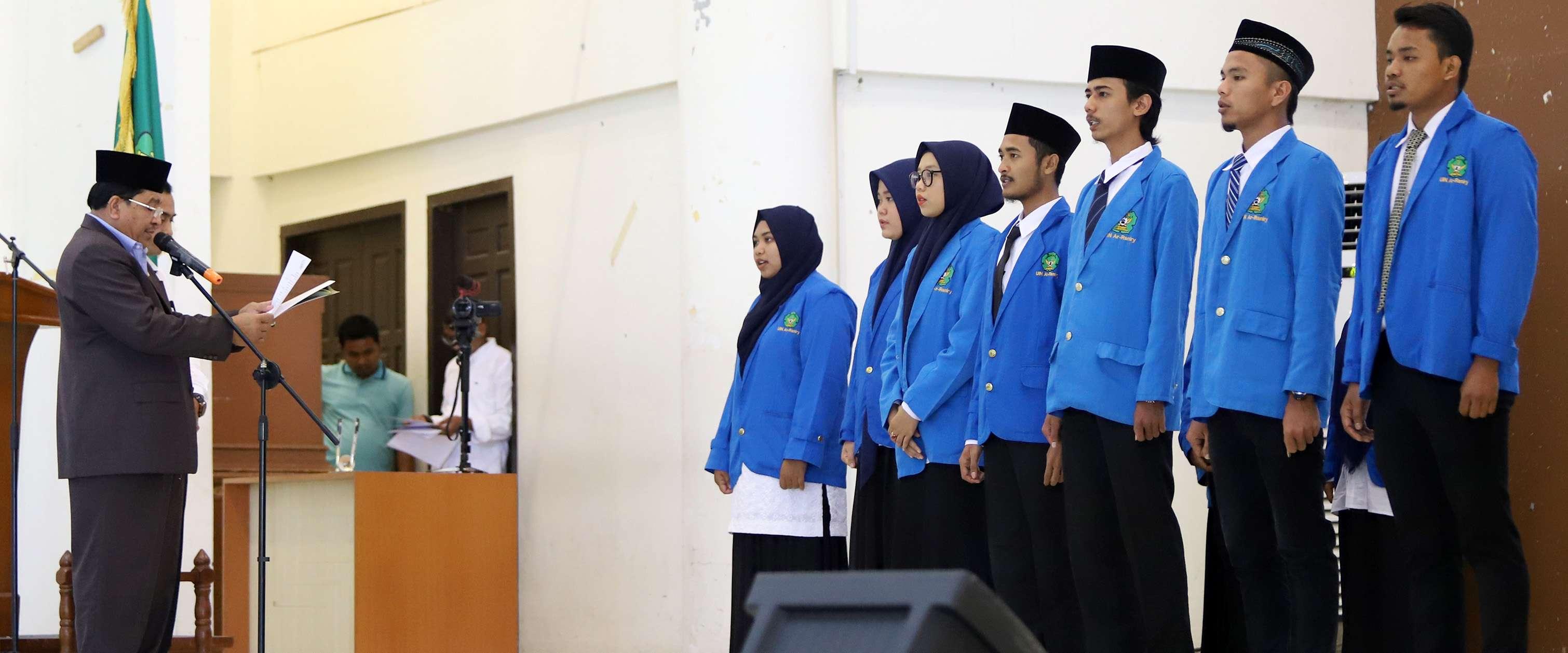 Rektor Lantik Dema Sema Dan Ukm Di Lingkungan Uin Ar Raniry
